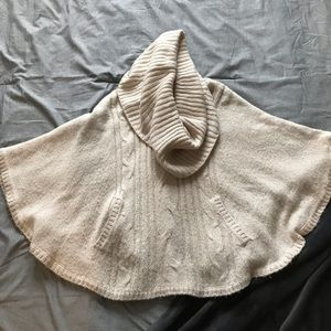 H&M Cable Knit Poncho Cape Sweater